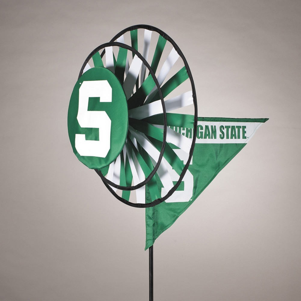 Michigan State Spartans Yard Decoration- Windmill Spinner