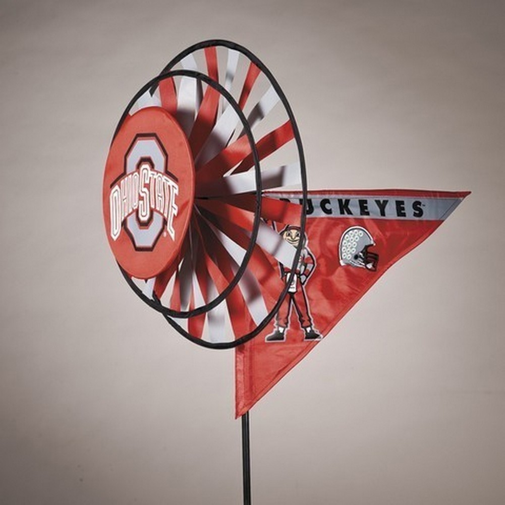 Ohio State Buckeyes Yard Decoration- Windmill Spinner