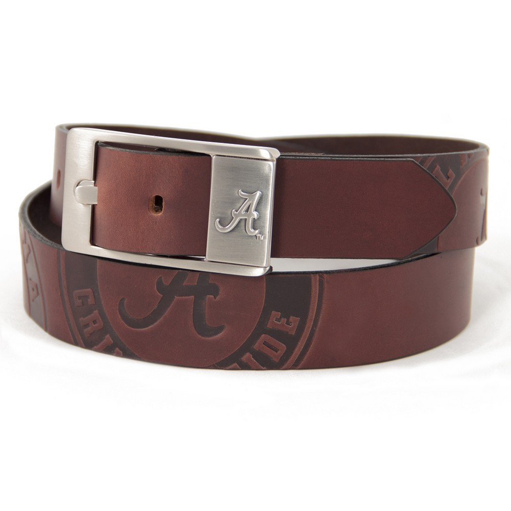 Alabama Crimson Tide Branded Brown Leather Belt