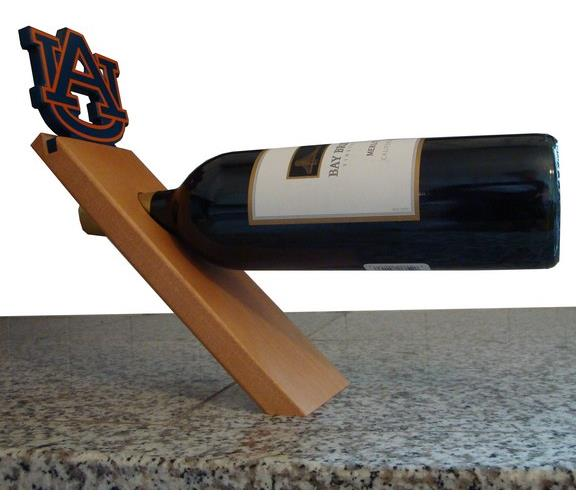 Auburn University Tigers Floating Wine Bottle Holder