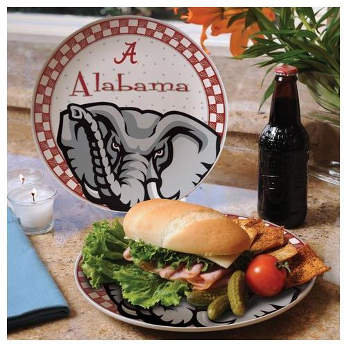Alabama Crimson Tide Ceramic Plate Game Day Round Plate