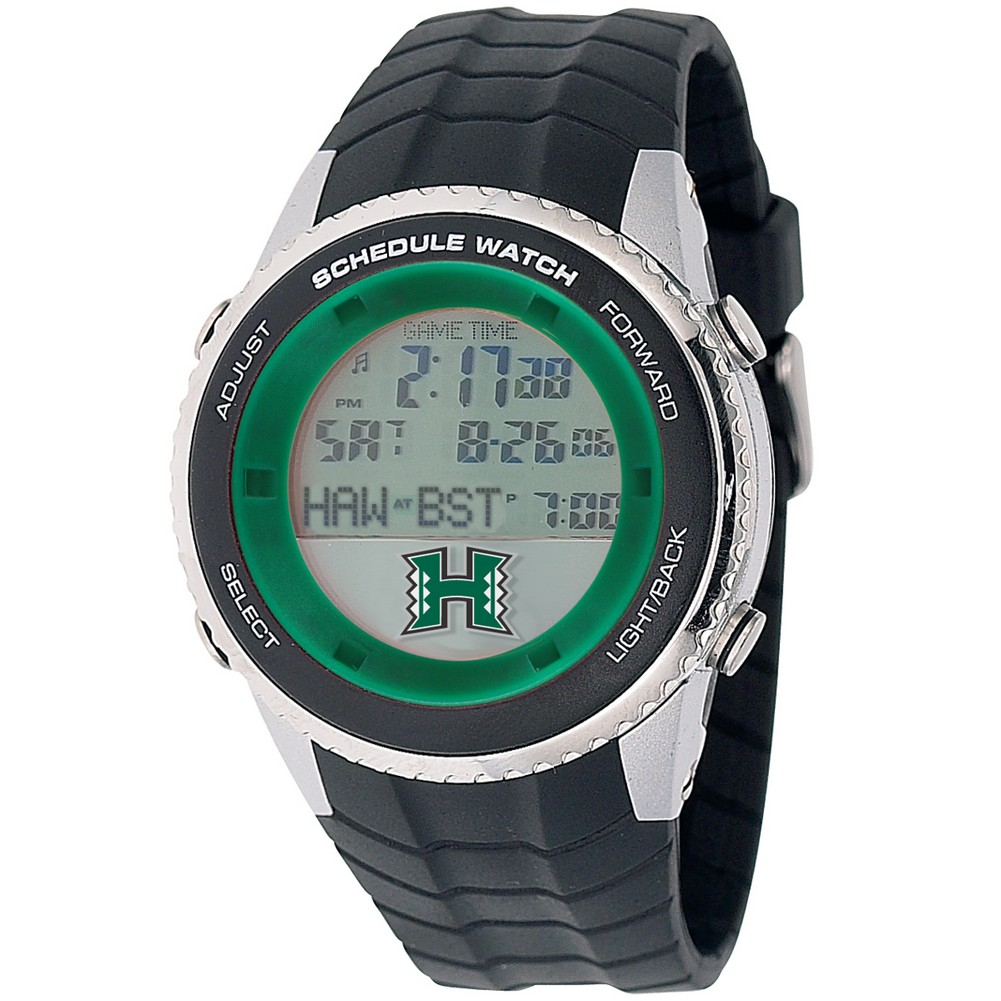University of Hawaii Warriors Mens Schedule Wrist Watch