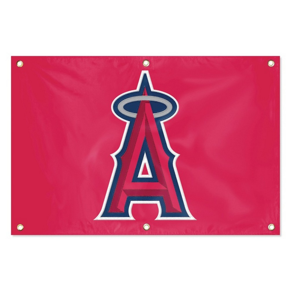 Los Angeles Angels LA Large Embroidered Grommet Banner