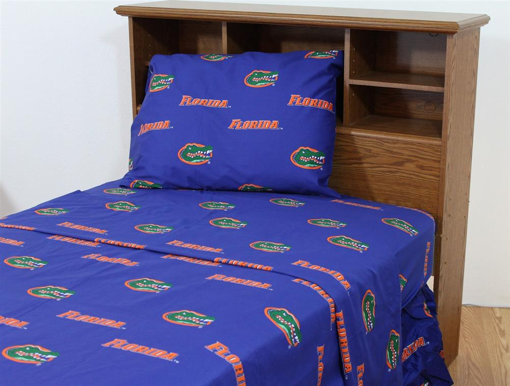 Kansas Jayhawks Ku Cotton Sateen Bed Sheet Set
