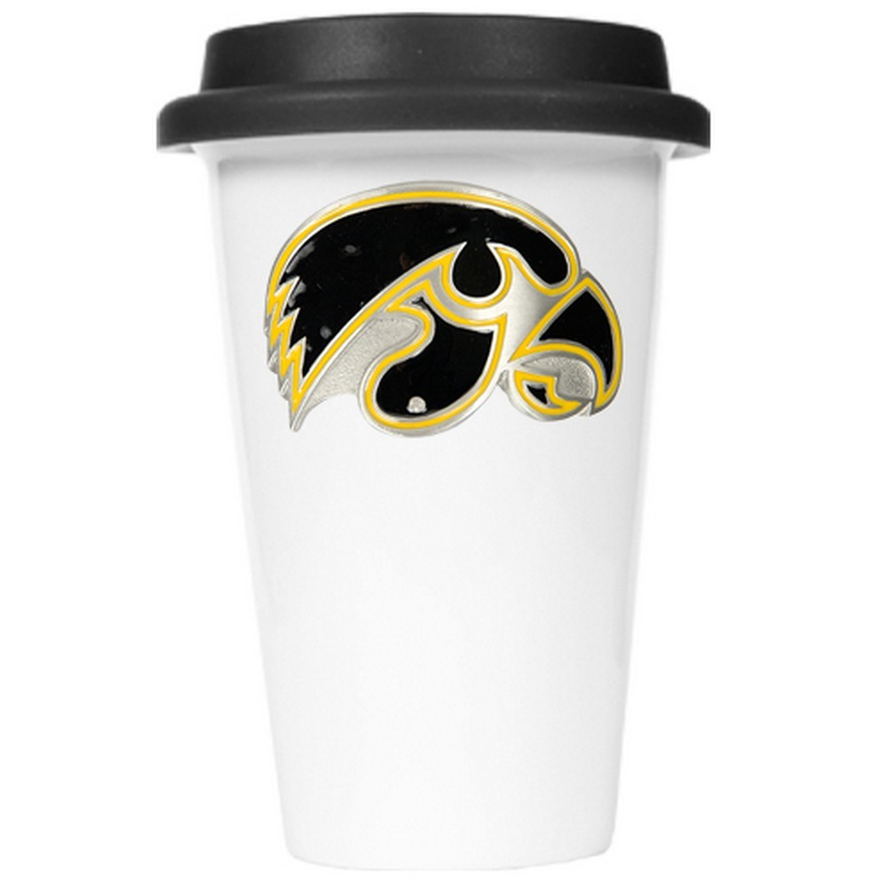 University of Iowa Hawkeyes Travel Coffee Cup With Lid