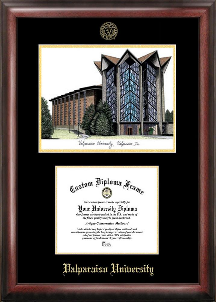 Valparaiso University Diploma Frame with Limited Edition Lithograph