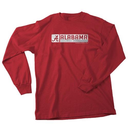 Alabama Crimson Tide Men's Long Sleeve Logo Shirt