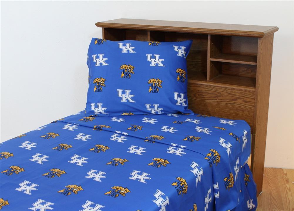 Kansas Jayhawks Ku Cotton Sateen Bed Sheet Set
