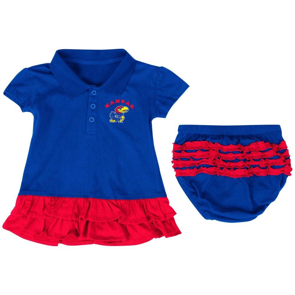 Colosseum Infant Girls Kansas Jayhawks KU Dress with Bloomers