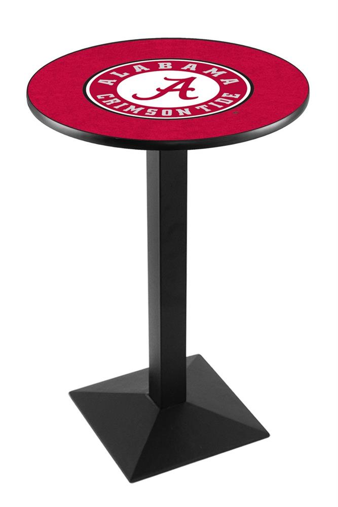 Alabama Crimson Tide Round Pub Table With Black Base