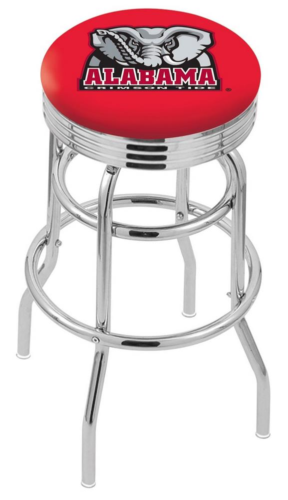Alabama Crimson Tide Bama Retro Swivel Bar Stool Barstools