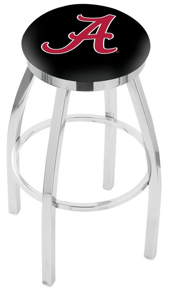 Alabama Crimson Tide Barstool Chrome Kitchen Chair