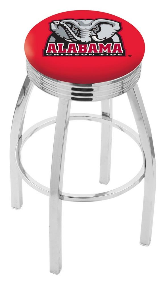 Alabama Crimson Tide Bama Swivel Bar Stool Counter Height