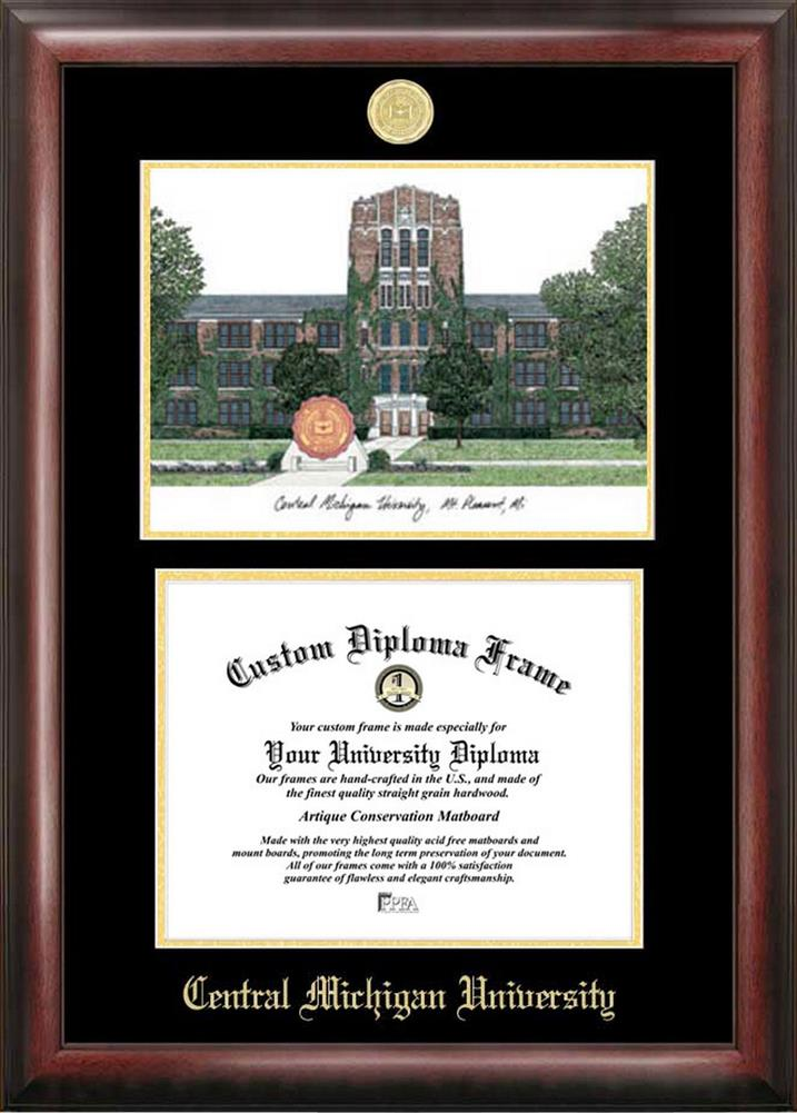 Central Michigan University Diploma Frame with Limited Edition ...