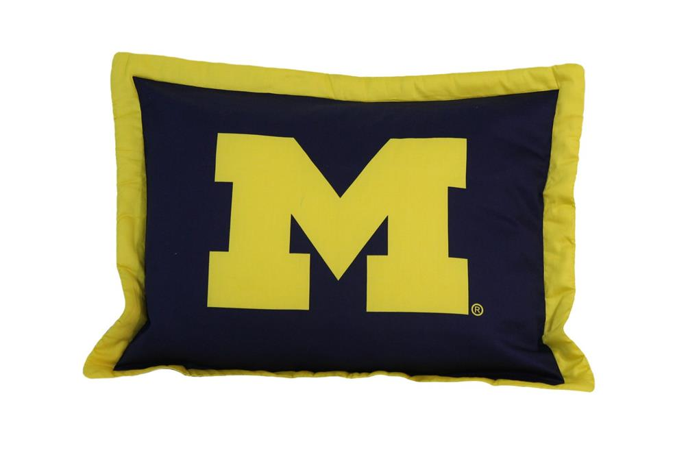 University of Michigan Wolverines Sham Bed Pillowcase
