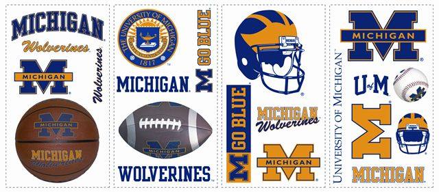 University of Michigan Wolverines Kids Removable Wall Graphics Sticker
