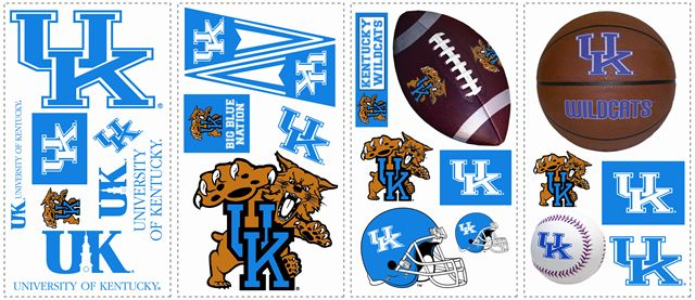 Kentucky Wildcats UK Kids Removable Wall Graphics Stickers