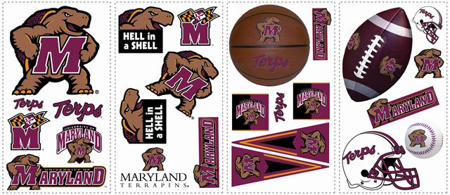 University of Maryland Terps Kids Removable Wall Graphics Stickers