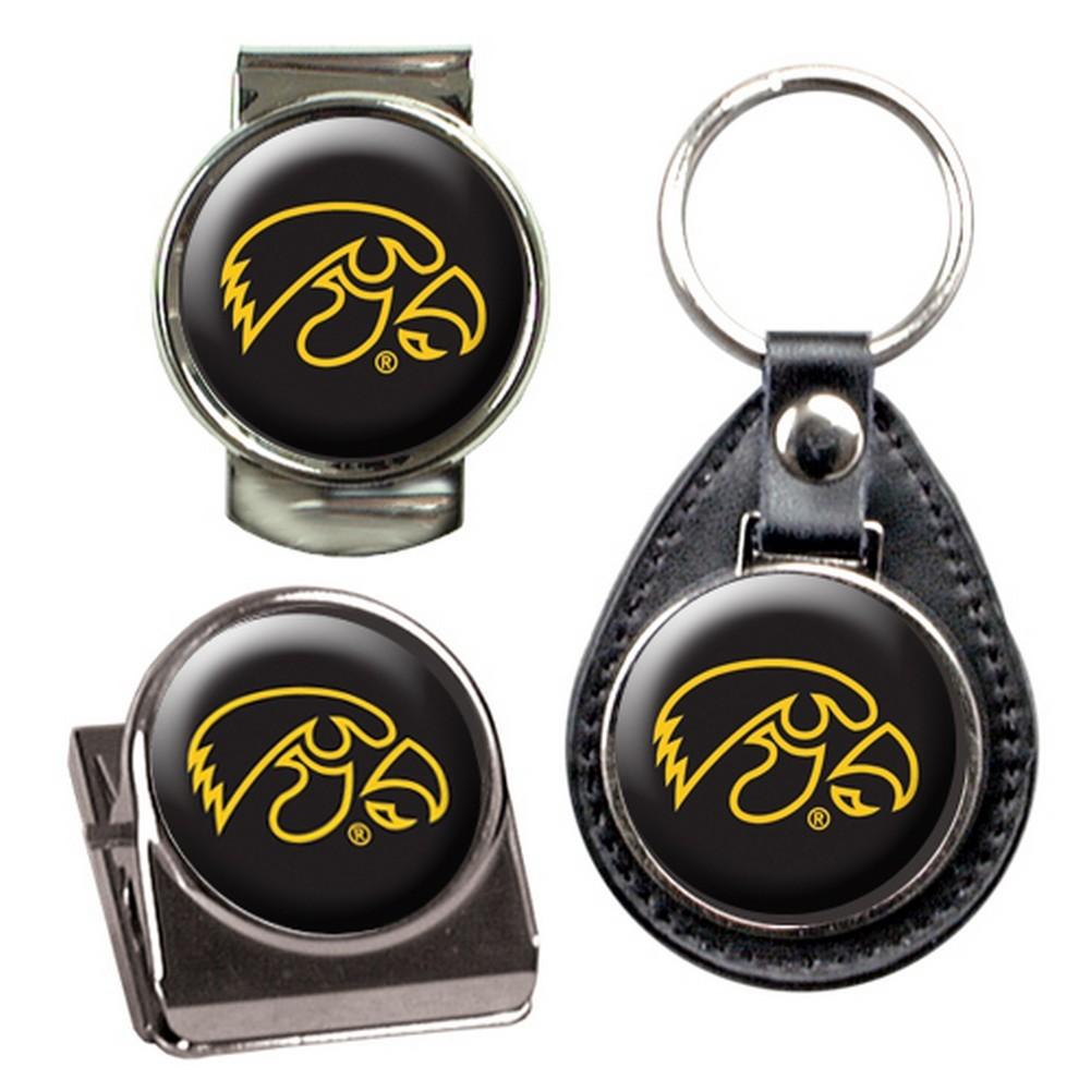 University of Iowa Hawkeyes Key Chain Money Clip Magnet Gift Set