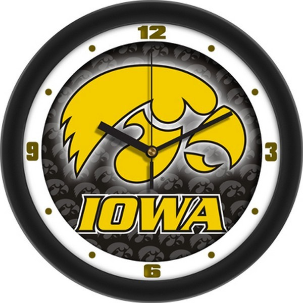 University of Iowa Hawkeyes Glass Wall Clock