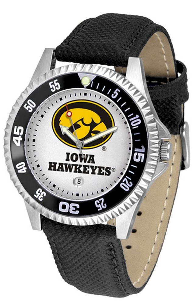 University of Iowa Hawkeyes Men's Leather Sports Watch