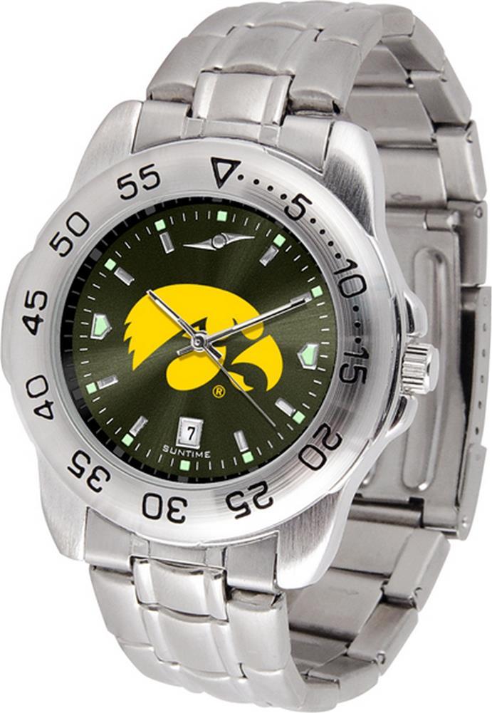 University of Iowa Hawkeyes Men's Stainless Steel Wristwatch