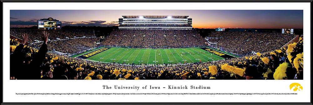 University of Iowa Hawkeyes Framed Panoramic Photo