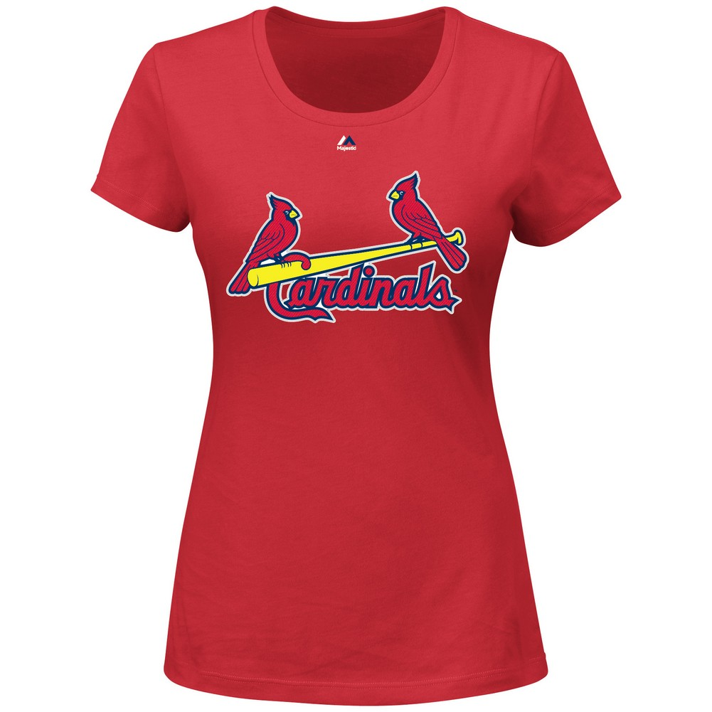 VF Imagewear Women's Yadier Molina Saint Louis Cardinals St. Player Name and Number Tee