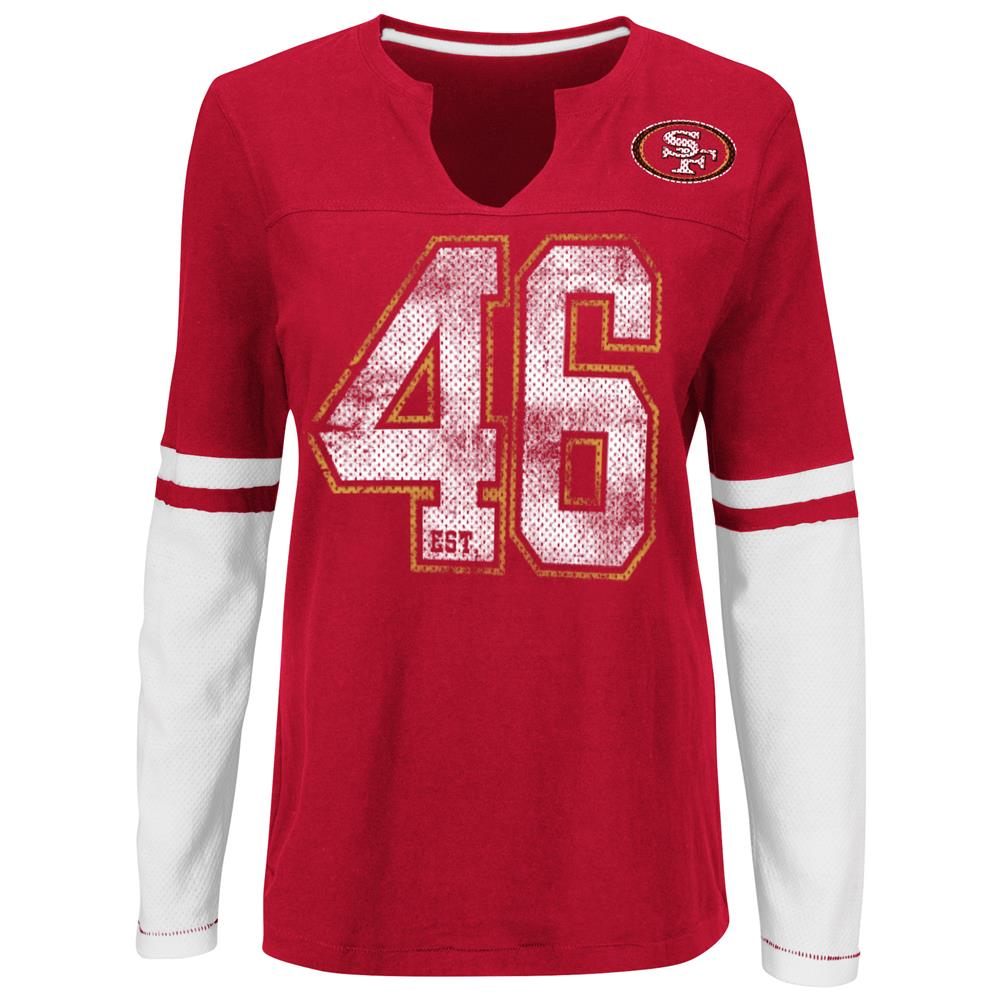 VF Imagewear Womens San Francisco 49ers Long Sleeve Jersey Tee