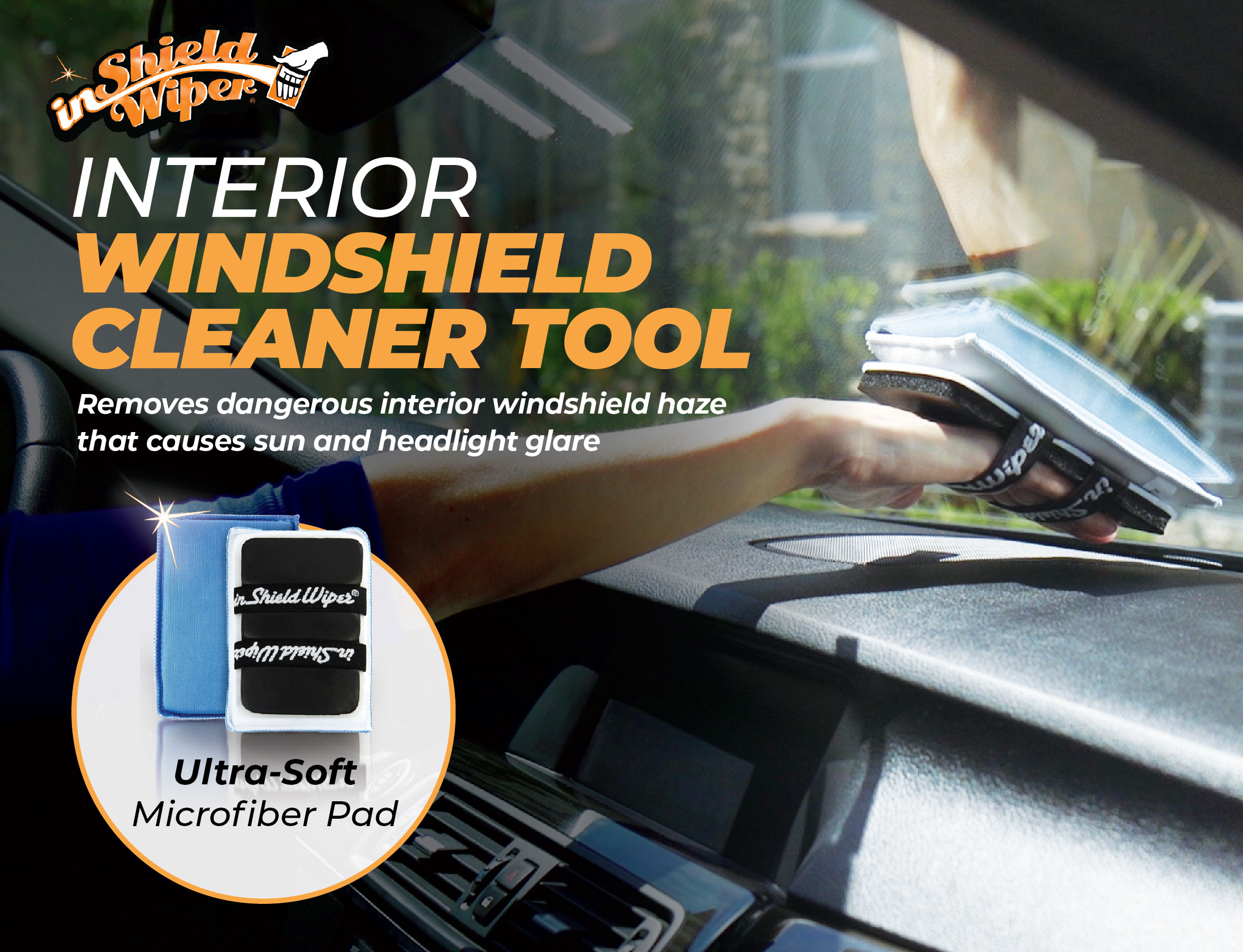 inShield Wiper Reusable Multi-use Microfiber Cleaning Tool