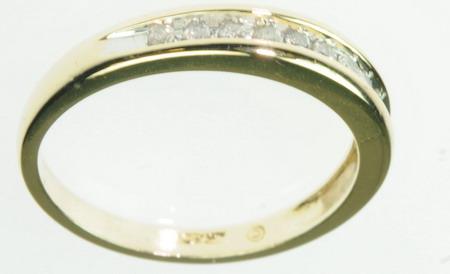 10K SOLID YELLOW GOLD DIAMOND WEDDING BAND ESTATE RING J189266