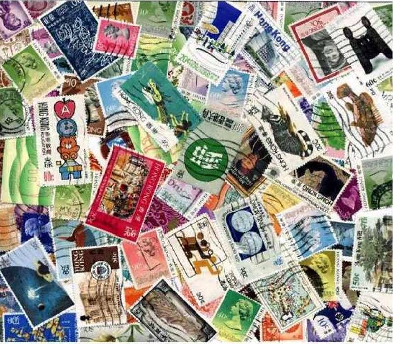 hong kong stamp collection 100 different stamps ebay. Black Bedroom Furniture Sets. Home Design Ideas