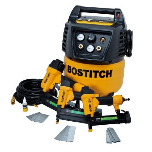 Stanley Bostitch Brad Finish Nailer Stapler Air Compressor