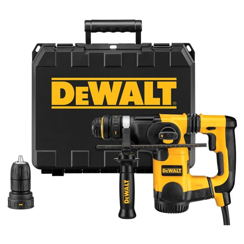 "DeWALT D25324K 1"" L-Shape SDS SHOCKS Quick Change Rotary Hammer Tool Kit at Sears.com"