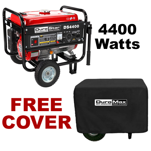 DuroStar DS4400 4,400 Watt Portable Gas Powered Generator ? Recoil Start with Cover (RV, Camping, Home, Emergency, Standby) at Sears.com