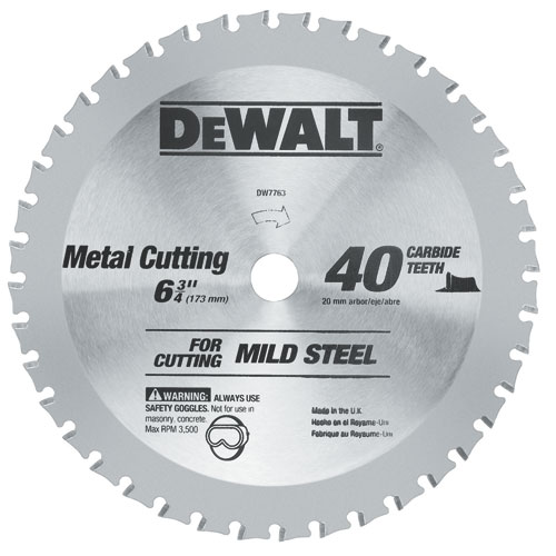 DEWALT 6-3/4-in 40T Ferrous Metal Cutting Circular Saw Blade DW7763 at Sears.com