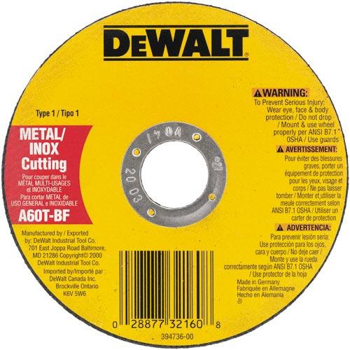 DeWalt DW8065 7'' x .055 x 7/8'' Metal Thin Cut-off Wheel -Type 1 at Sears.com