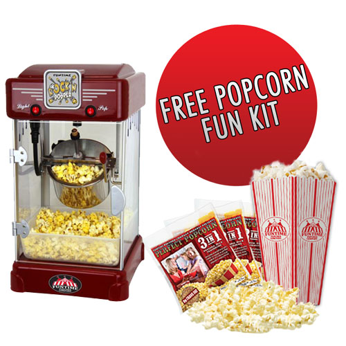 Funtime Rock'N Popper 2.5 oz Popcorn Machine + Popcorn Starter Pack -  FT2518 at Sears.com