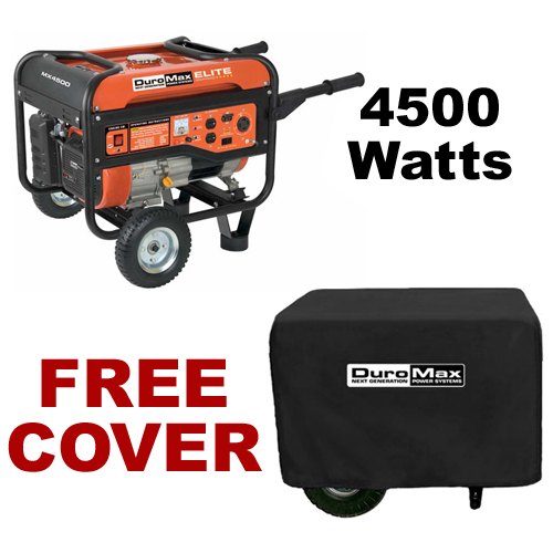 DuroMax MX4000 4,500 Watt Portable Gas Powered Generator ? Recoil Start with Cover (RV, Camping, Home, Emergency, Standby) at Sears.com