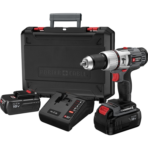 Porter-Cable PC180CHDK-2 1/2-Inch 18-Volt NiCD Compact Hammer Drill Kit at Sears.com