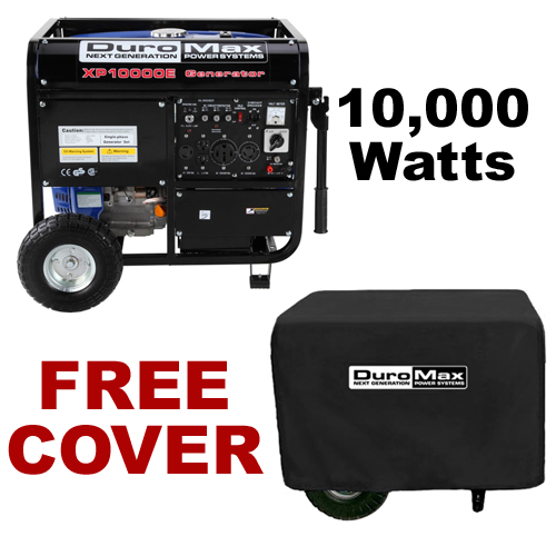 DuroMax XP10000E 10,000 Watt Portable Gas Powered Generator with Cover? Electric Start (RV, Camping, Home, Emergency, Standby) at Sears.com