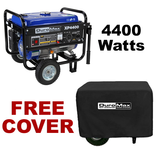 DuroMax XP4400 4,400 Watt Portable Gas Powered Generator ? Recoil Start with Cover (RV, Camping, Home, Emergency, Standby) at Sears.com