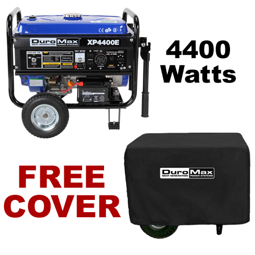 DuroMax XP4400E 4,400 Watt Portable Gas Powered Generator ? Electric Start with Cover (RV, Camping, Home, Emergency, Standby) at Sears.com