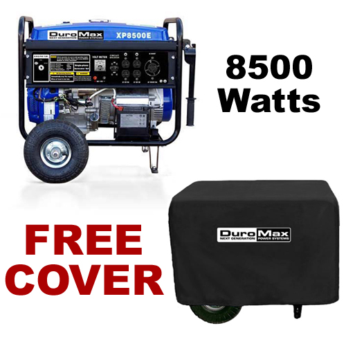 DuroMax XP8000E 8,000 Watt Portable Gas Powered Generator with Cover? Electric Start (RV, Camping, Home, Emergency, Standby) at Sears.com