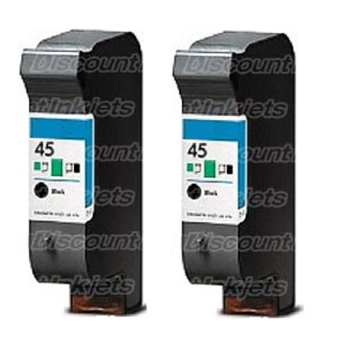 2 51645A 45 Black Printer REMAN Ink Cartridge for HP Deskjet 870