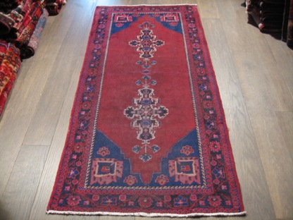 Traditional Persian Oriental Wool Rug Antique Carpet 7x3 ft