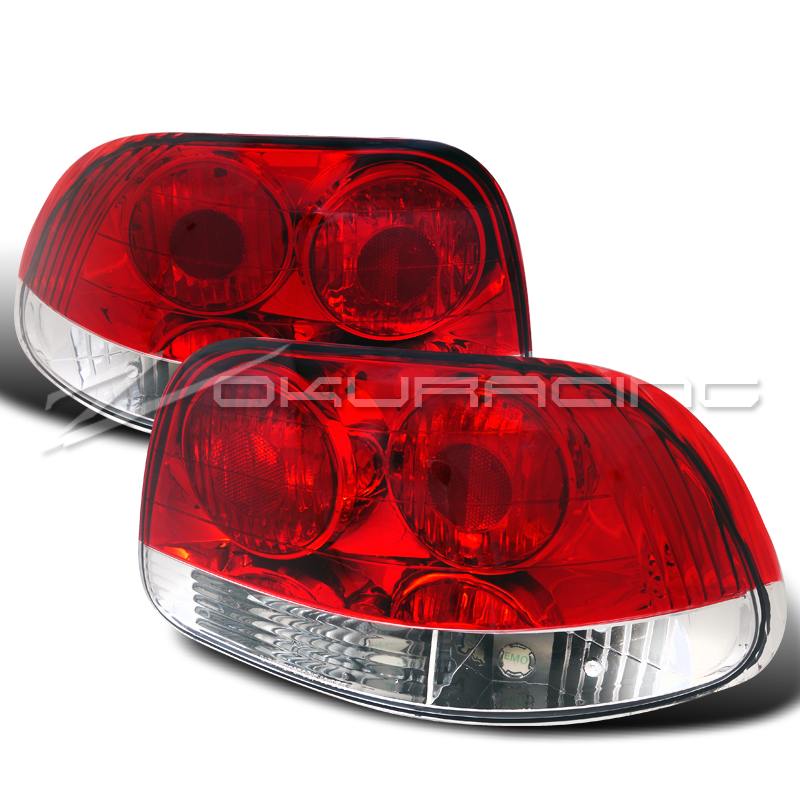 1993-1997 HONDA DEL SOL RED/CLEAR TAIL LIGHTS LAMPS BRAND