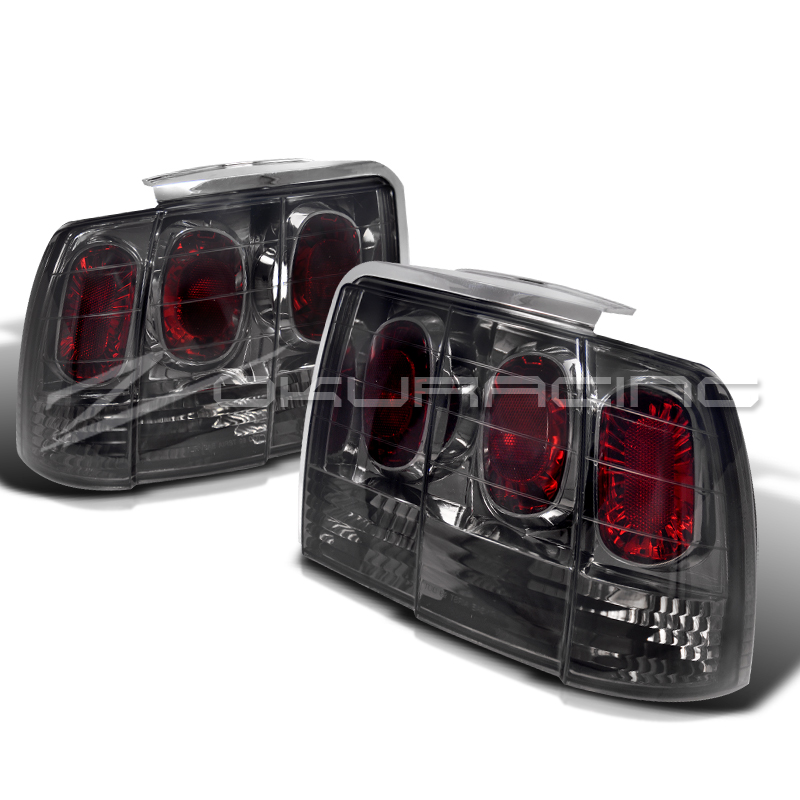 1999 2004 ford mustang smoke rear tail lights pair. Black Bedroom Furniture Sets. Home Design Ideas