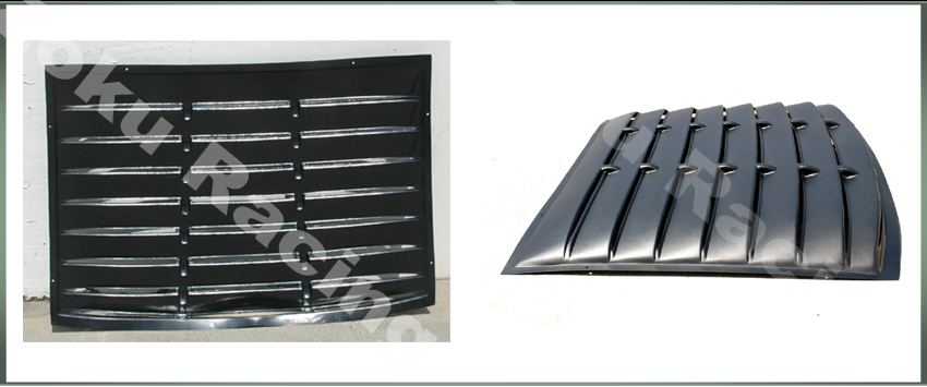 2005 2013 mustang abs black rear window louver saleen gt for 05 mustang rear window louvers