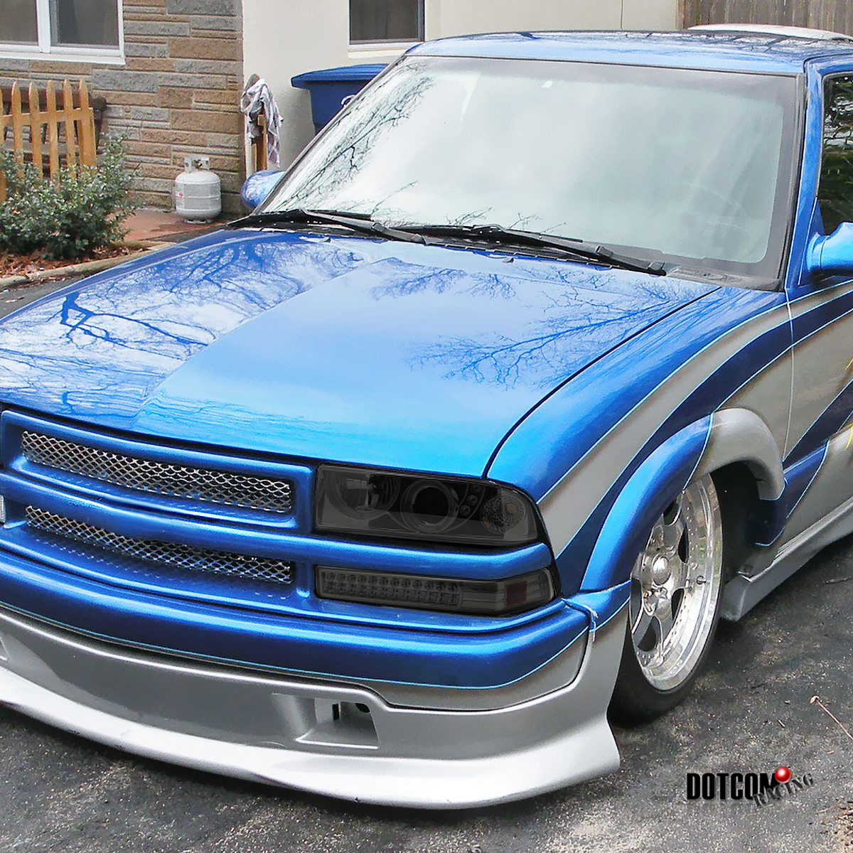 98 04 Chevy S10 Blazer Smoke Smd Led Halo Projector